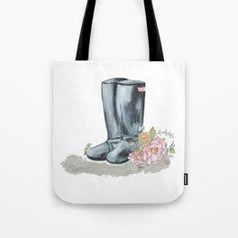 Spring Rain Boots Tote Bag