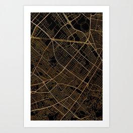 Bogota map, Colombia Art Print