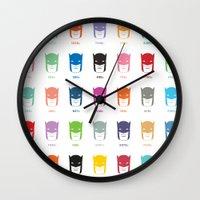 pantone Wall Clocks featuring Pantone Knight by James Northcote