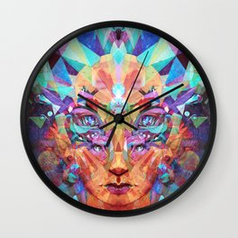 Betrothal of Bastet (Crystal Lioness Goddess) Wall Clock