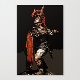 Roman Legionary at War Canvas Print