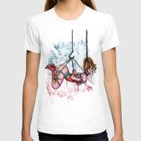 bondage T-shirts featuring Bondage Wonderowman by lucille umali