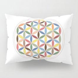 Flower of Life Retro Colors Pillow Sham