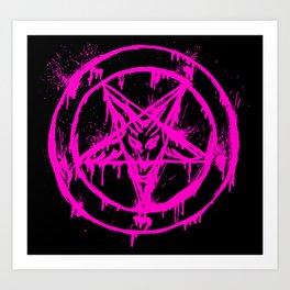 Pink Pentagram Art Print
