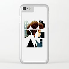 Bob Dylan Font Colour Clear iPhone Case