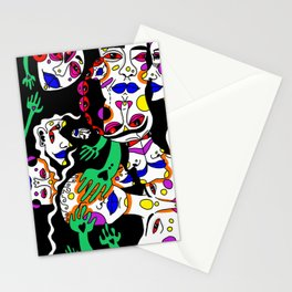 the neon heads Stationery Cards