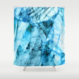 Blue crystal Shower Curtain