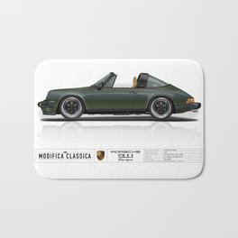Porsche 1978 911 SC Targa Oak Green Metallic Bath Mat