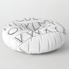 The Alphabet Floor Pillow