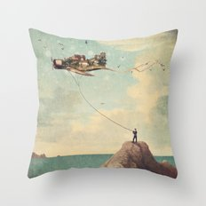 City Kite Afternoon Throw Pillow