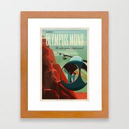 Mars Retro Space Travel Poster Framed Art Print