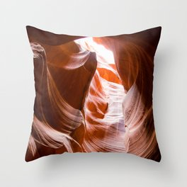 Red Waves | Antelope Canyon Nature Desert Landscape Photography in Arizona Throw Pillow