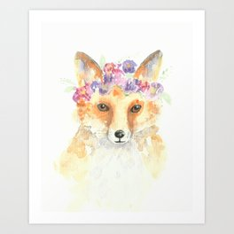 Miss Foxie Art Print