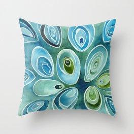 Blue Oyster Throw Pillow