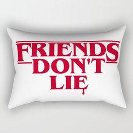 Stranger Friends Don't Lie Rectangular Pillow