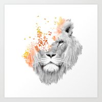 king Art Prints featuring If I roar (The King Lion) by Picomodi