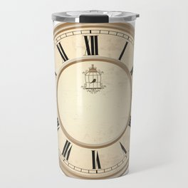Classy Vintage Birdcage Decorative Clock Travel Mug
