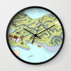 Eagle Island Maze Wall Clock