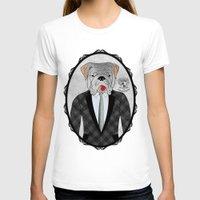 english bulldog T-shirts featuring Mr. Dandy - English Bulldog by Rozenblyum Couture