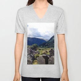 Glendalough, Ireland Unisex V-Neck
