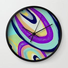 Groovy Saucers Wall Clock