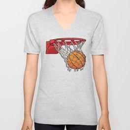 ball basket Unisex V-Neck
