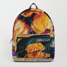 Watercolor Tulip Wrap on Wrinkled Paper Backpack