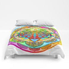Inner Strength Sri Yantra Mandala Comforters