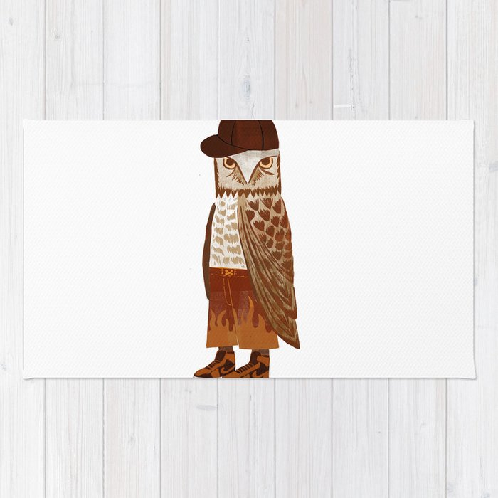 Hip Hop Owl Rug