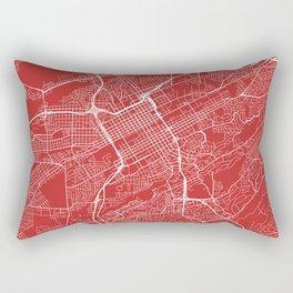Birmingham Map, USA - Red Rectangular Pillow