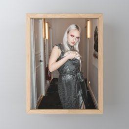 White Metal Rat Year Framed Mini Art Print