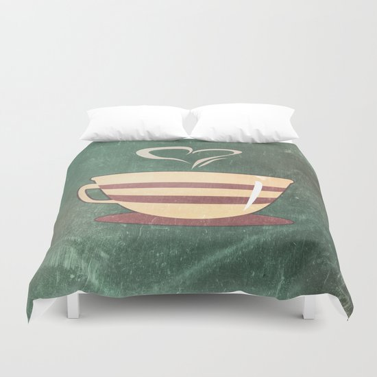 Coffee is love illustration Duvet Cover