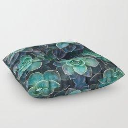 Succulent Blue Green Plants Floor Pillow