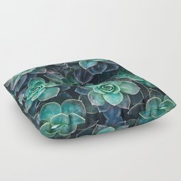 Succulent Blue Green Plants Floor Pillow