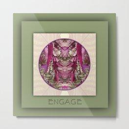 Engage Manifestation Mandala No. 7 Metal Print