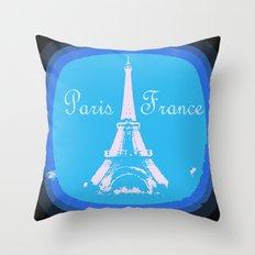 Paris France Throw Pillow