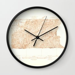 La Brea, CA from 1925 Vintage Map - High Quality Wall Clock