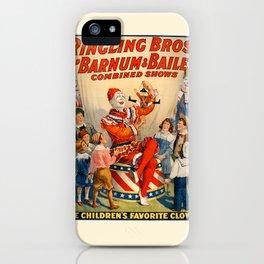 clown barnum iPhone Case