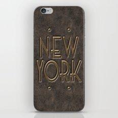 New York, leather and metal iPhone & iPod Skin
