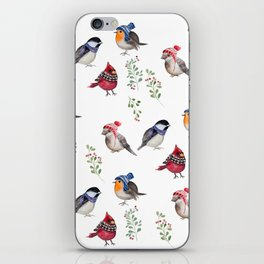 Birds of a Christmas feather iPhone Skin