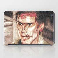 evil dead iPad Cases featuring Ash from Evil Dead II (2) by Aaron Bir by Aaron Bir