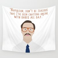 napoleon Wall Tapestries featuring Napoleon Dynamite by Shop Sarah Alyson