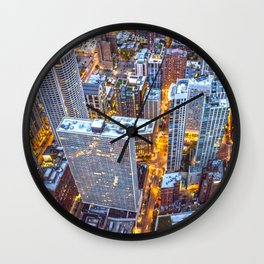 Chicago City Nightlife Wall Clock