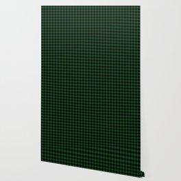 Original Forest Green and Black Rustic Cowboy Cabin Buffalo Check Wallpaper