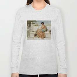 In the Days of Sappho by John William Godward (1904) Long Sleeve T-shirt