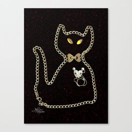 I Love Me Mouse! Cat and Mouse Jewelry Scanography Canvas Print