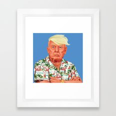 Hipstory -  Donald Trump Framed Art Print