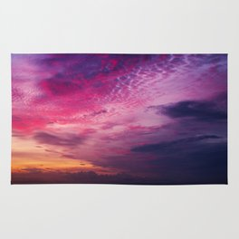 Red Sky Sunrise Rug