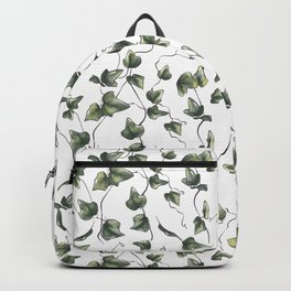 English Ivy watercolor plant Backpack