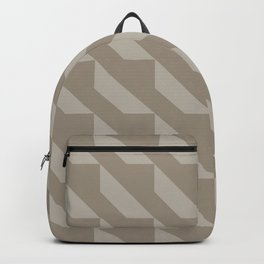 Modern Simple Geometric 4 in Taupe Backpack